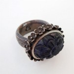 Carved illite set in sterling silver. Lei ring