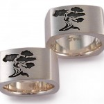 Sterling silver. Arbutus rings