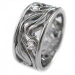 Brilliant cut diamonds set in 19 kt. white gold